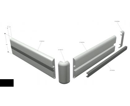 Защита стен и колонн ПВХ профиль фото