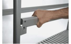 Модульный стеллаж из алюминия быстро монтируемый