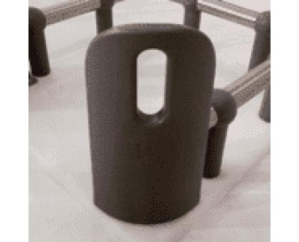 Высокий угловой отбойник защиты витрин Серый фото