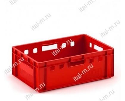 Ящик пластиковый для мяса морозостойкий 600х400х200 мм фото
