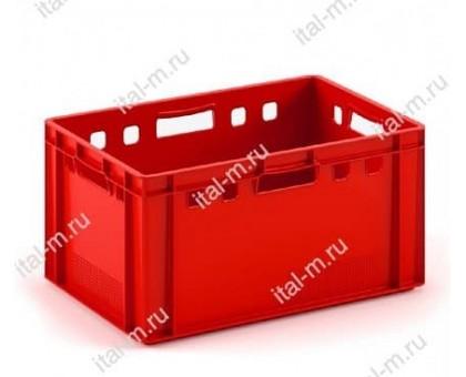 Ящик пластиковый для мяса морозостойкий 600х400х300 мм фото