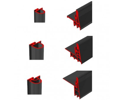 Уплотнитель резиновый Dervet для дверей холодильных камер фото