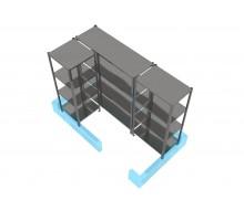 Комплект стеллажей для холодильной камеры 1360х1960 мм