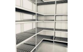 Стеллаж угловой для холодильного склада
