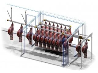 Проект системы хранения туш для холодильной камеры 3000х3700х2100 мм