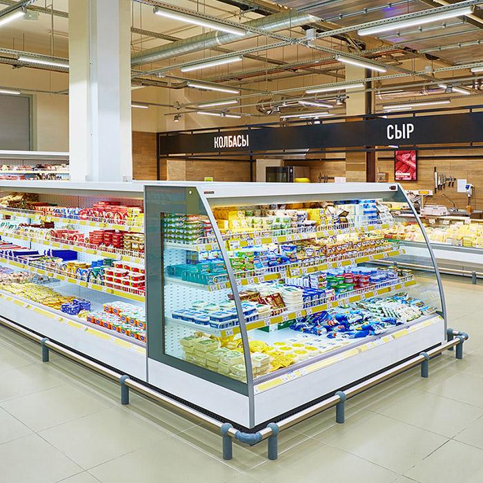 Отбойники в супермаркете Лента