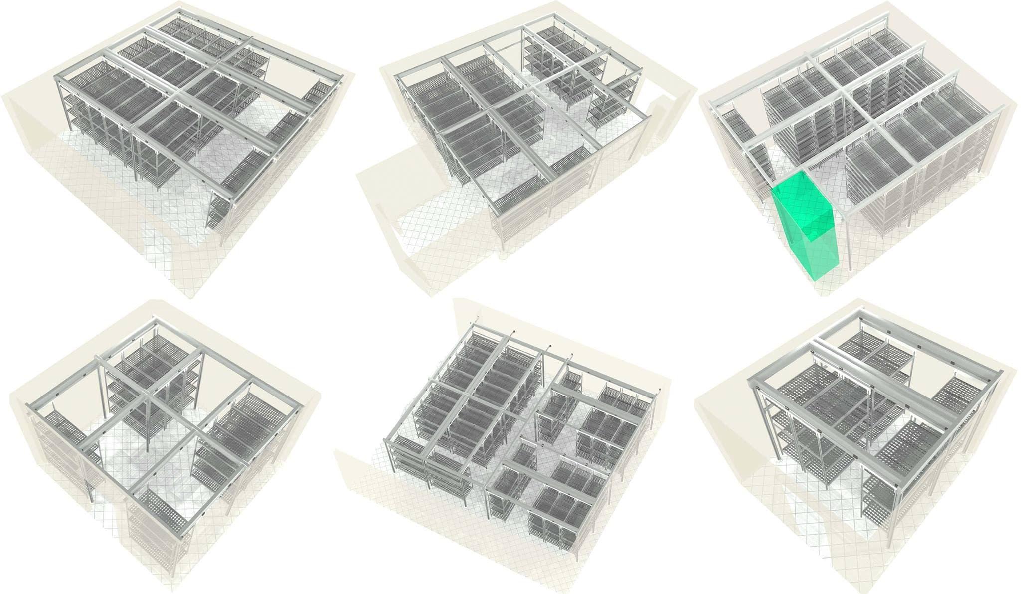 Передвижные стеллажи для аптек и складов