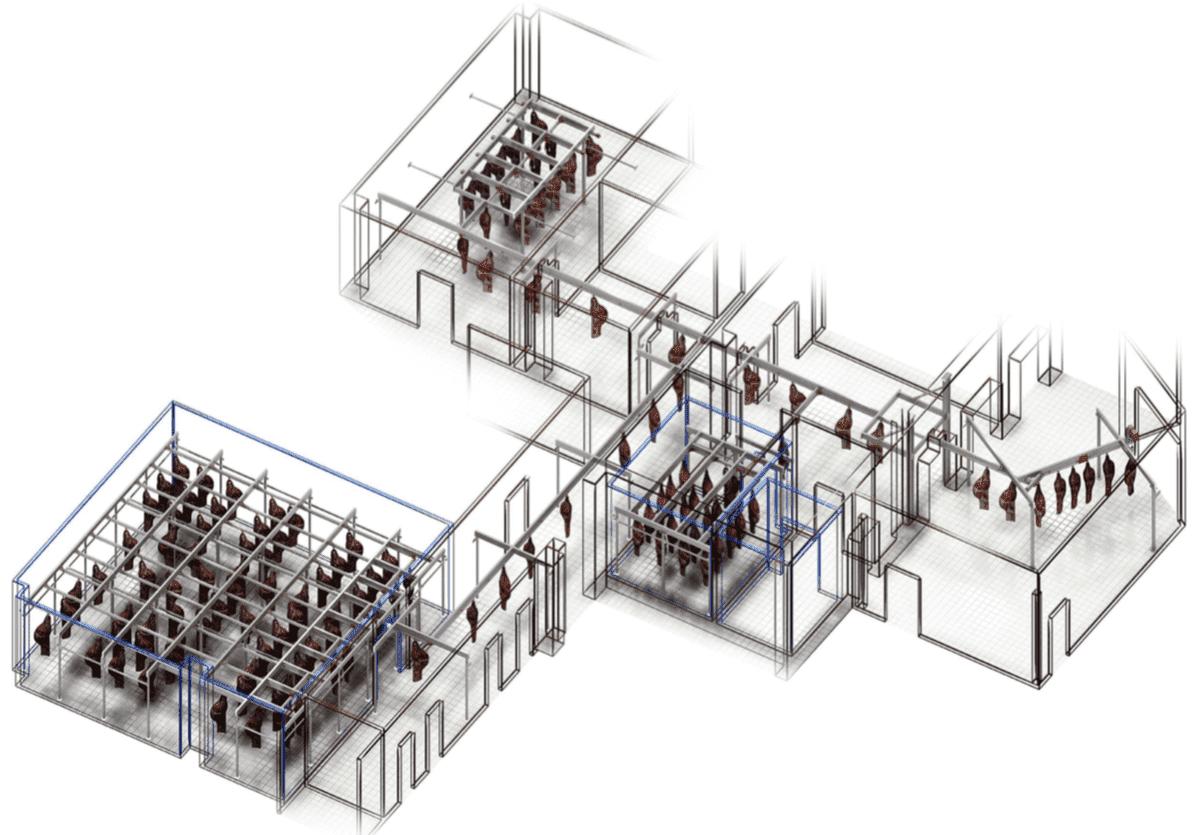 Проект подвесных путей для фабрики-кухни