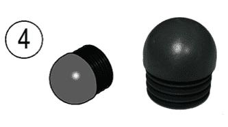 Заглушка сферическая для трубы