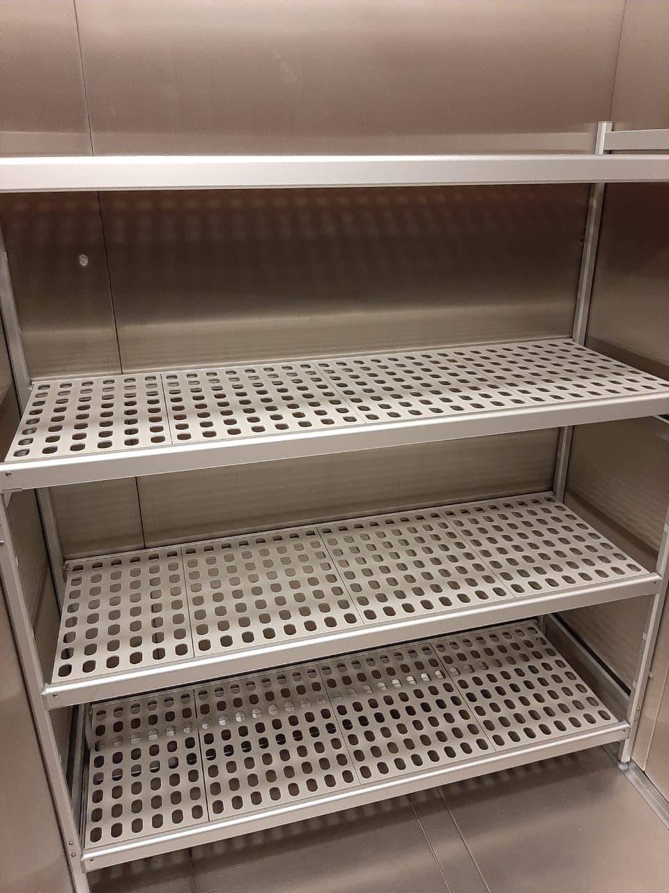 Стеллажи для холодильных камер алюминиевые Италмодулар